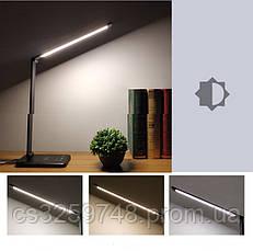 Настольная лампа  LED светильник с беспроводной зарядкой QI 2 в 1 USB black (Оригинал 2019), фото 2