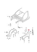 Крыло переднее левое VW Jetta 2011-2018 USA     5C6821105A