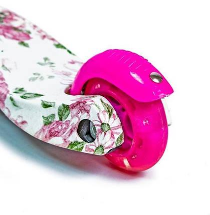 Самокат детский  Micro Mini. Flowers.Светящиеся колеса!, фото 2