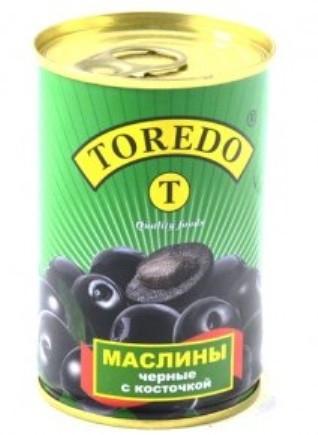 """Маслини чорні з кісточкою """"Toredo"""" 280 г"""