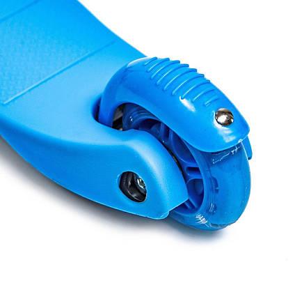 Самокат детский Micro Mini. Blue. Светящиеся колеса!, фото 2