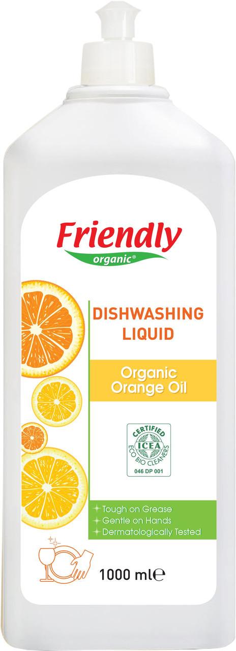 Органическое средство для мытья посуды Friendly Organic c апельсиновым маслом 1000 мл
