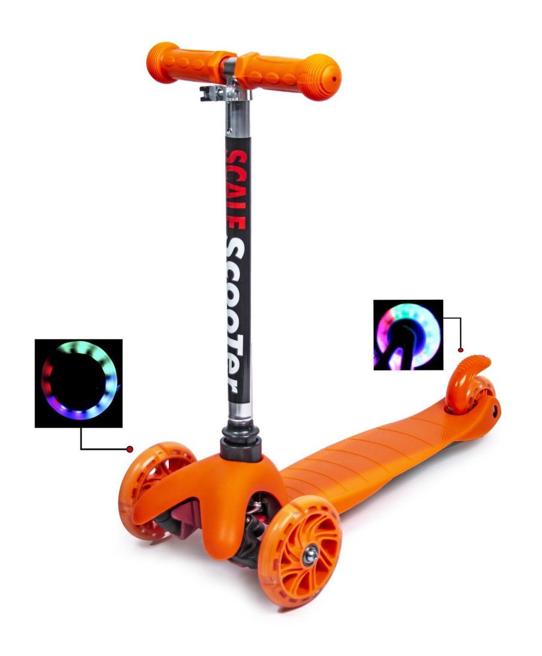Самокат детский Micro Mini.Orange. Светящиеся колеса!