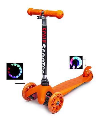 Самокат детский Micro Mini.Orange. Светящиеся колеса!, фото 2