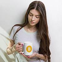 Біла кружка (чашка) з принтом Bitcoin coffee Mug