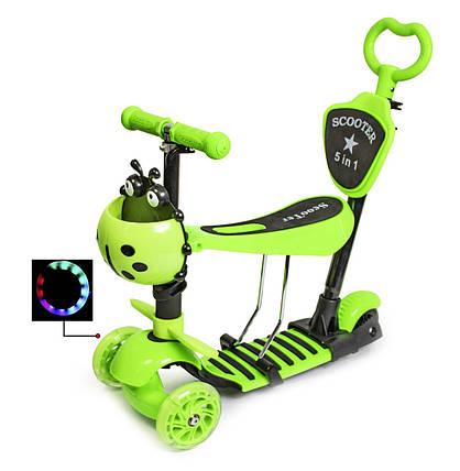 """Самокат Scooter """"Божья коровка"""" 5в1 Green, фото 2"""