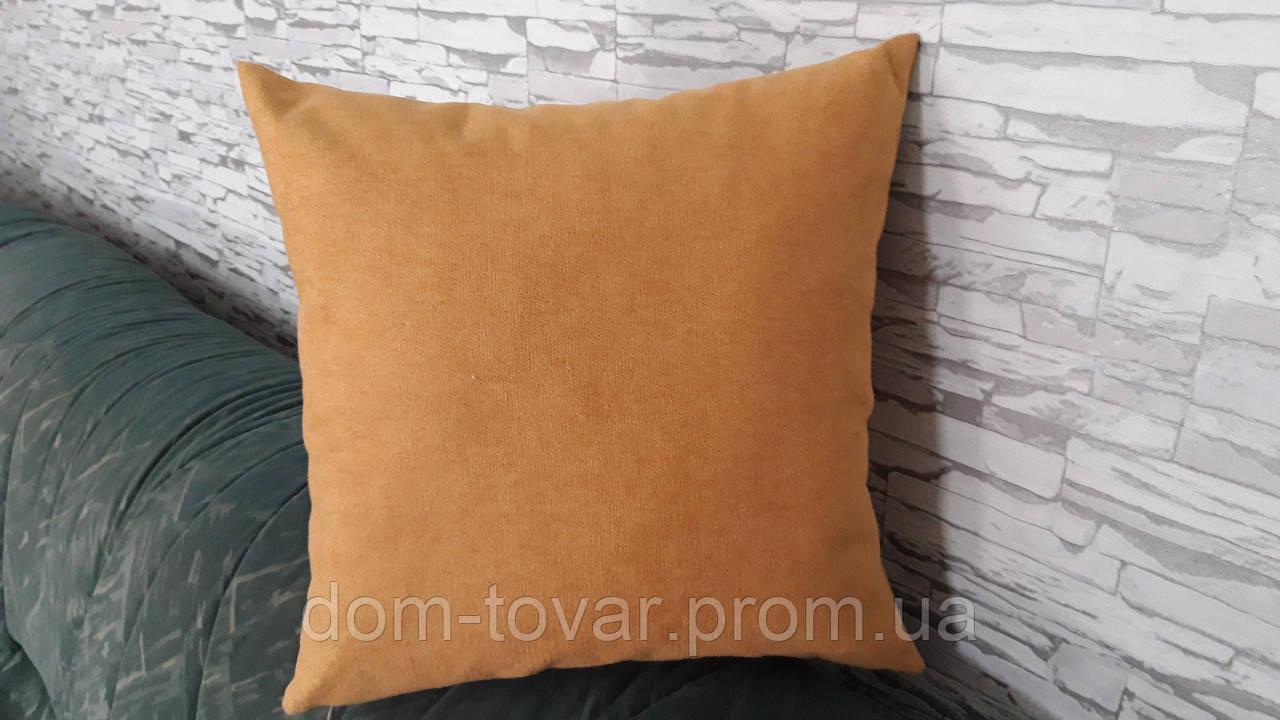 Подушка декоративная 40х40 желтая (горчица)