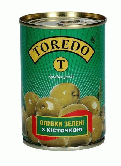 """Оливки зелені з кісточкою """"Toredo"""" 280 г"""