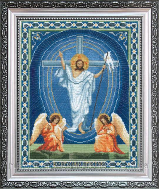 """Набір для вишивки хрестиком Чарівна Мить А-100 """"Ікона Воскресіння Христове"""""""