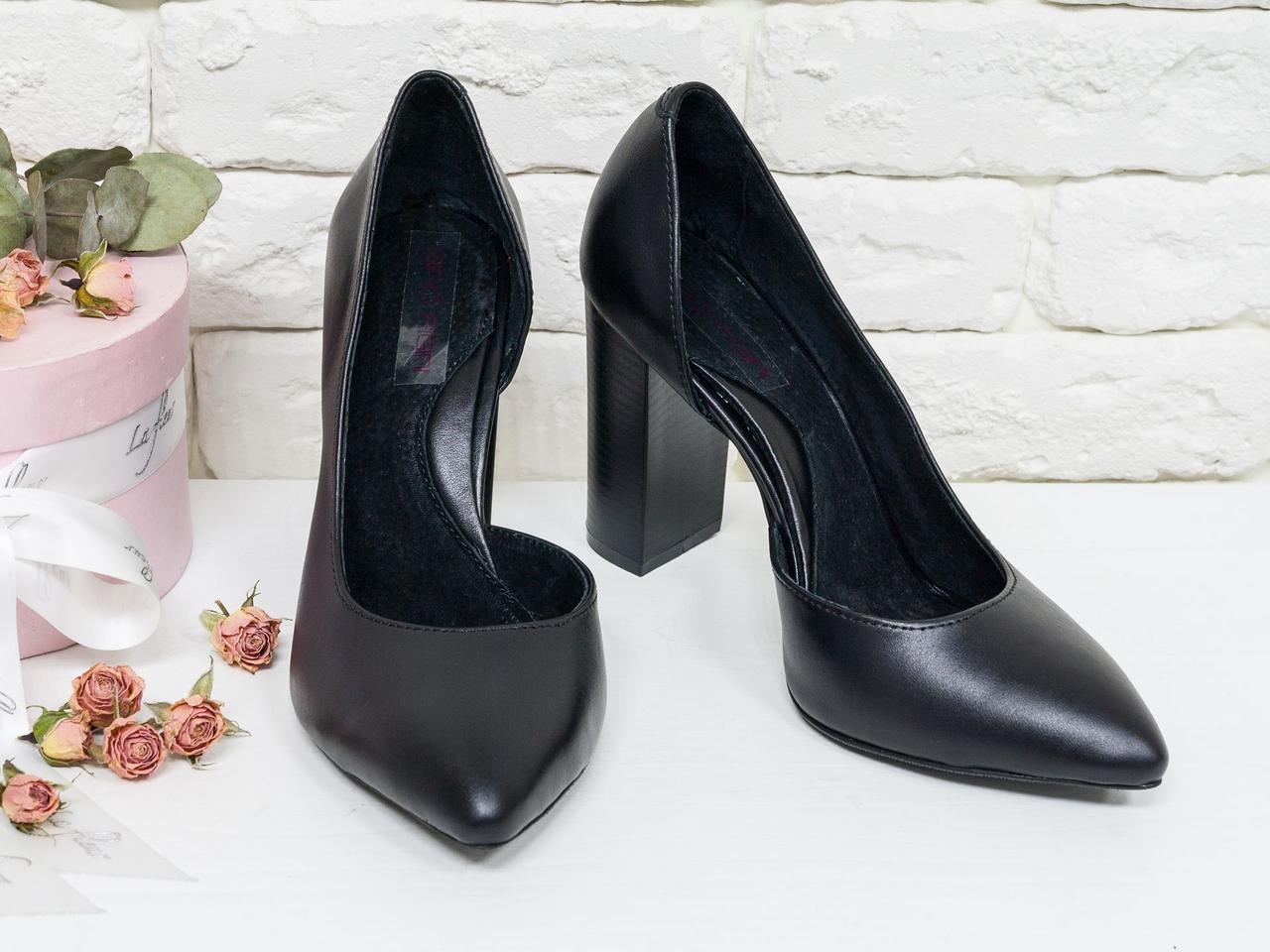 Эксклюзивные туфли из натуральной кожи черного цвета  36-40р