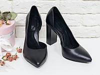 Эксклюзивные туфли из натуральной кожи черного цвета  36-40р, фото 1