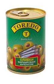 "Оливки фаршеровані анчоусом ""Toredo"" 280 г"