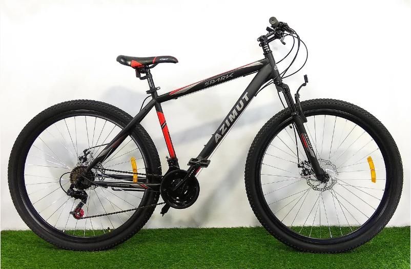 Горный велосипед Azimut Spark 29 GD 21 рама Черно-красный