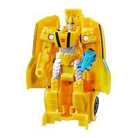 Transformers Игрушка трансформер Кибервселенная Уан Степ Бамблби, E3642, фото 1