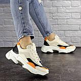 Женские кроссовки Fashion Bailey 1576 36 размер 22,5 см Бежевый, фото 2