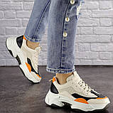 Женские кроссовки Fashion Bailey 1576 36 размер 22,5 см Бежевый, фото 3