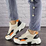 Женские кроссовки Fashion Bailey 1576 36 размер 22,5 см Бежевый, фото 5