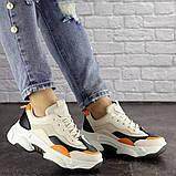Женские кроссовки Fashion Bailey 1576 36 размер 22,5 см Бежевый, фото 6