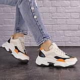 Женские кроссовки Fashion Bailey 1576 36 размер 22,5 см Бежевый, фото 7