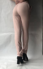 Летние брюки из льна-коттона №14 БАТАЛ пудра, фото 3