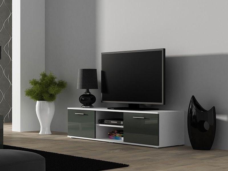 ТВ тумба Soho S-4 140 (білий/сірий) (CAMA)