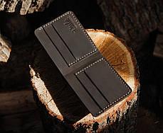 Мужской кожаный бумажник ручной работы VOILE vl-mw1-brn, фото 2