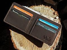 Мужской кожаный бумажник ручной работы VOILE vl-mw1-brn