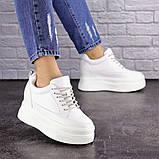 Женские стильные кроссовки на танкетке Fashion Murgie 1671 38 размер 24 см Белый, фото 2