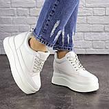 Женские стильные кроссовки на танкетке Fashion Murgie 1671 38 размер 24 см Белый, фото 4