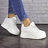Женские стильные кроссовки на танкетке Fashion Murgie 1671 38 размер 24 см Белый, фото 5
