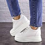 Женские стильные кроссовки на танкетке Fashion Murgie 1671 38 размер 24 см Белый, фото 7