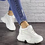 Женские стильные кроссовки на танкетке Fashion Penny 1673 36 размер 23 см Белый, фото 2