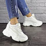 Женские стильные кроссовки на танкетке Fashion Penny 1673 36 размер 23 см Белый, фото 3