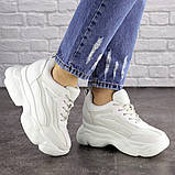 Женские стильные кроссовки на танкетке Fashion Penny 1673 36 размер 23 см Белый, фото 4