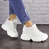 Женские стильные кроссовки на танкетке Fashion Penny 1673 36 размер 23 см Белый, фото 5