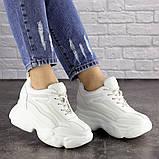 Женские стильные кроссовки на танкетке Fashion Penny 1673 36 размер 23 см Белый, фото 6