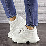 Женские стильные кроссовки на танкетке Fashion Penny 1673 36 размер 23 см Белый, фото 7