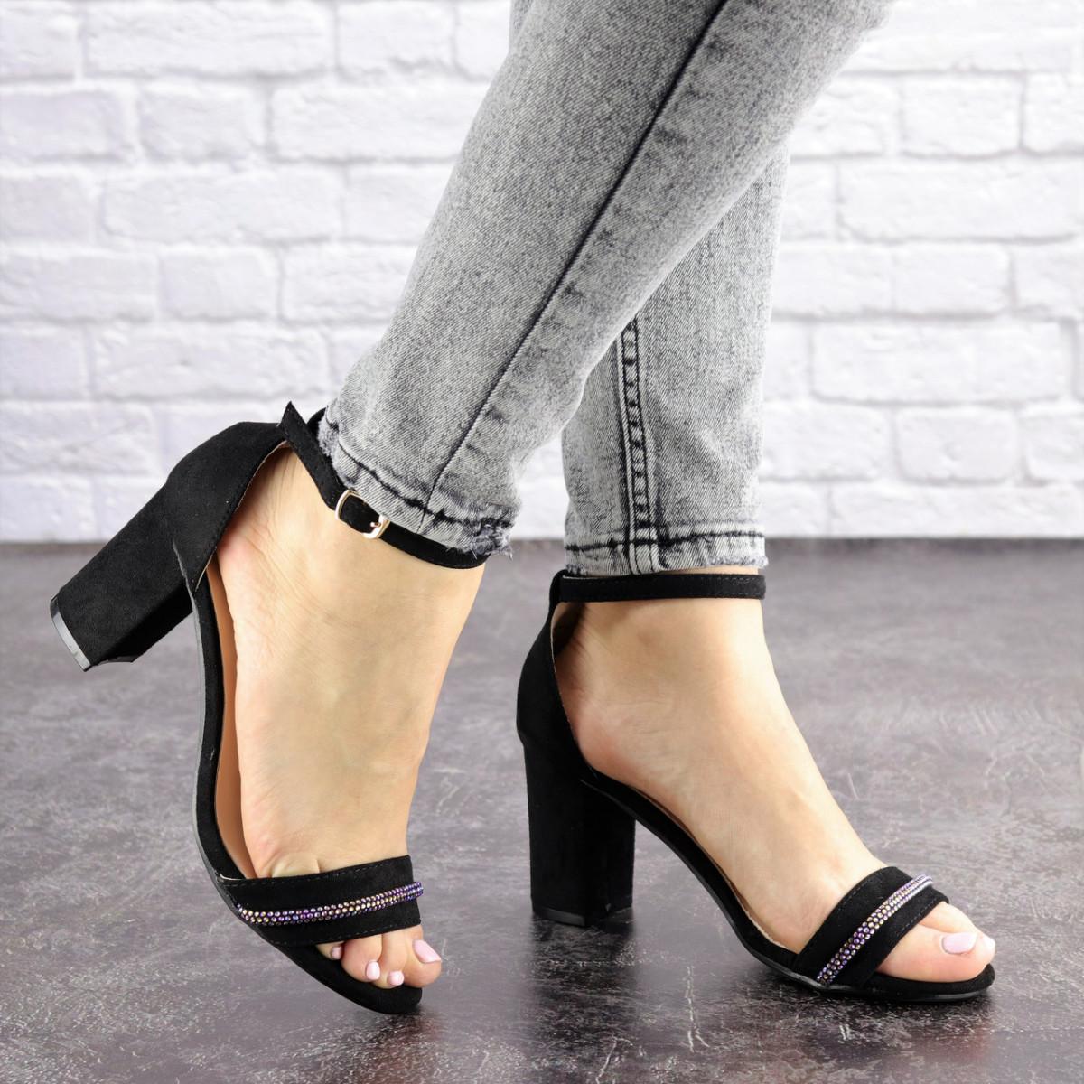 Женские босоножки на каблуке Fashion Juno 1650 36 размер 23,5 см Черный