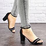 Женские босоножки на каблуке Fashion Juno 1650 36 размер 23,5 см Черный, фото 2