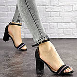 Женские босоножки на каблуке Fashion Juno 1650 36 размер 23,5 см Черный, фото 3