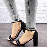 Женские босоножки на каблуке Fashion Juno 1650 36 размер 23,5 см Черный, фото 4