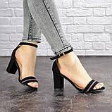 Женские босоножки на каблуке Fashion Juno 1650 36 размер 23,5 см Черный, фото 5