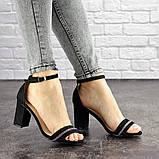 Женские босоножки на каблуке Fashion Juno 1650 36 размер 23,5 см Черный, фото 6