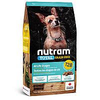 Сухий корм 2 кг для собак та цуценят Нутрам T28 / Total Grain-Free Salmon & Trout Small Breed Dog NUTRAM