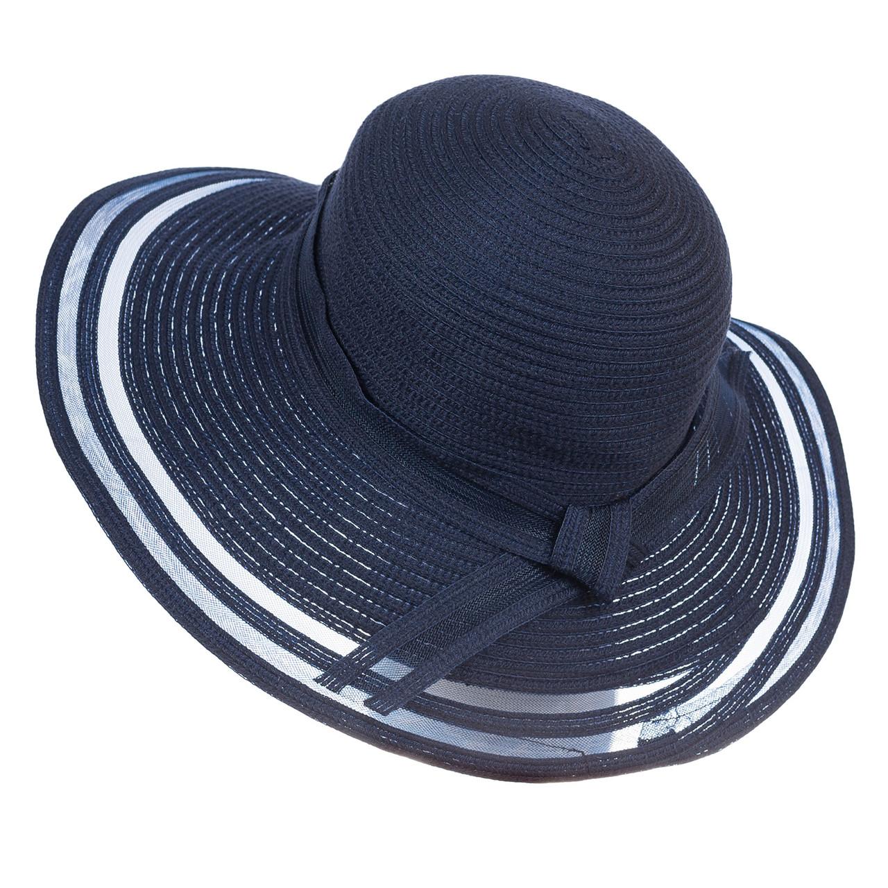 Шляпа женская Marmilen Полоски темно синяя ( ШС-20-21 )