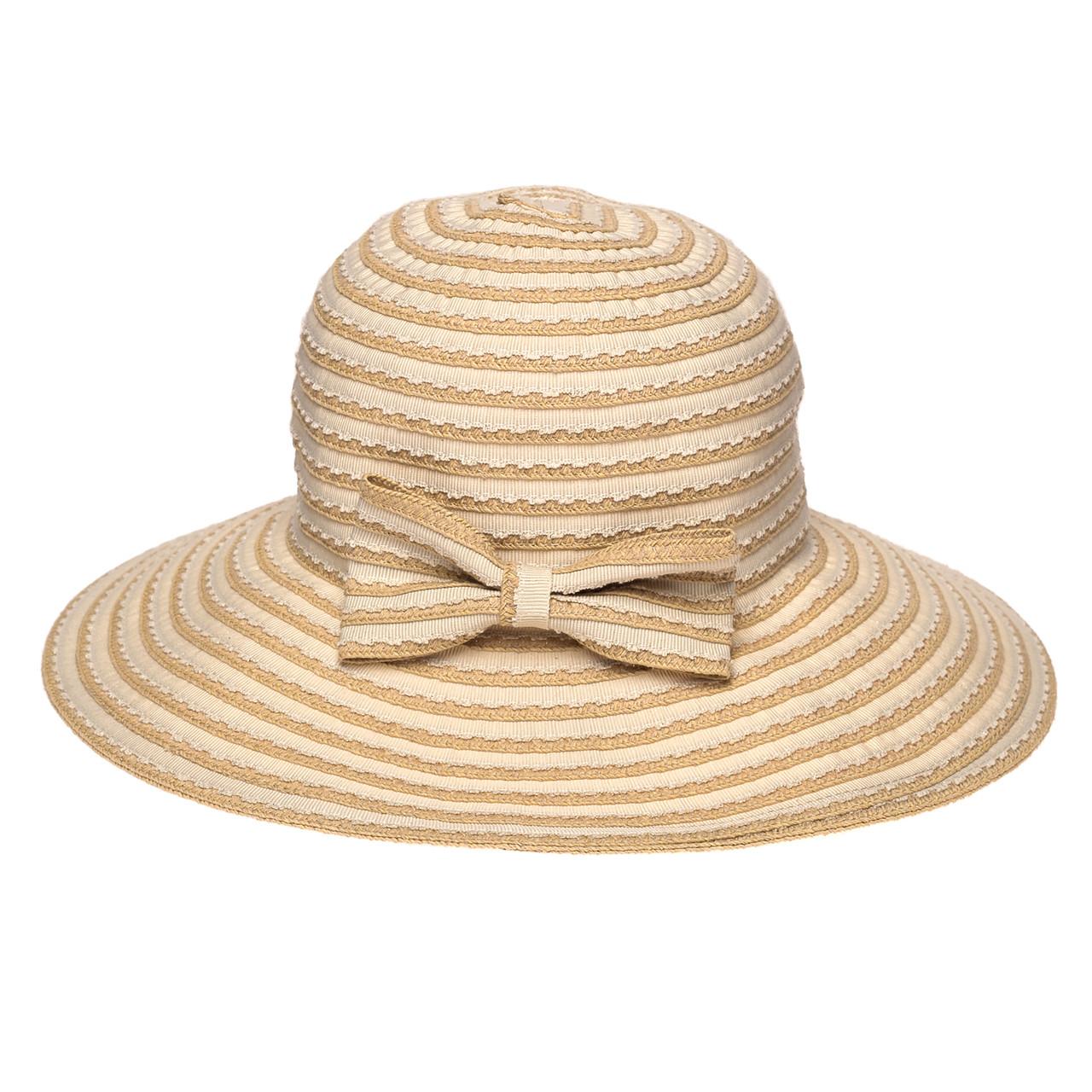 Шляпа женская Marmilen Тесьма-Бант бежевая ( AVKJX-128-02 )