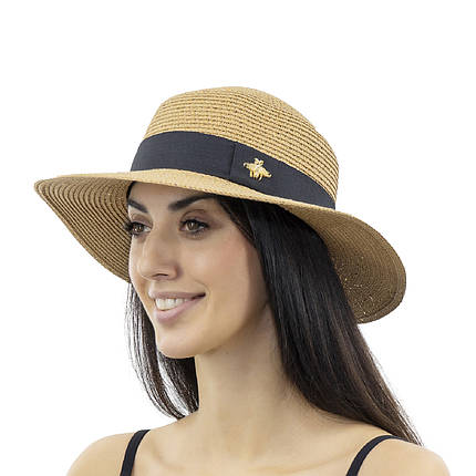 Шляпа женская Marmilen Пчелка С пайеткой темно бежевая( ИУ-06-15 ), фото 2