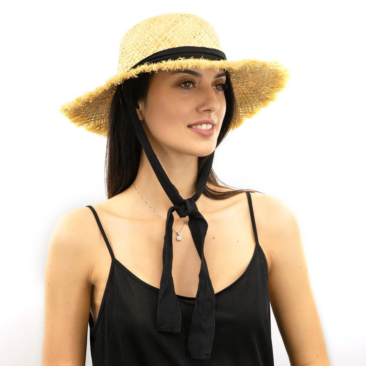 Шляпа женская Marmilen Томи С Бахромой натуральный ( ШС-78-01 )