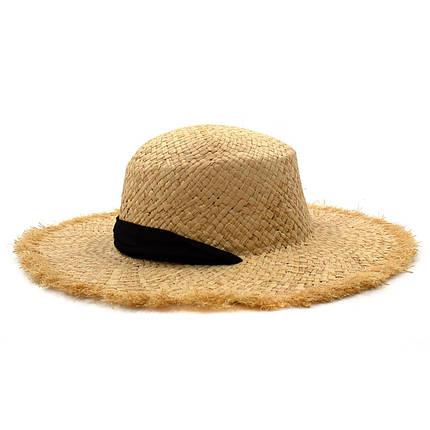 Шляпа женская Marmilen Томи С Бахромой натуральный ( ШС-78-01 ), фото 2