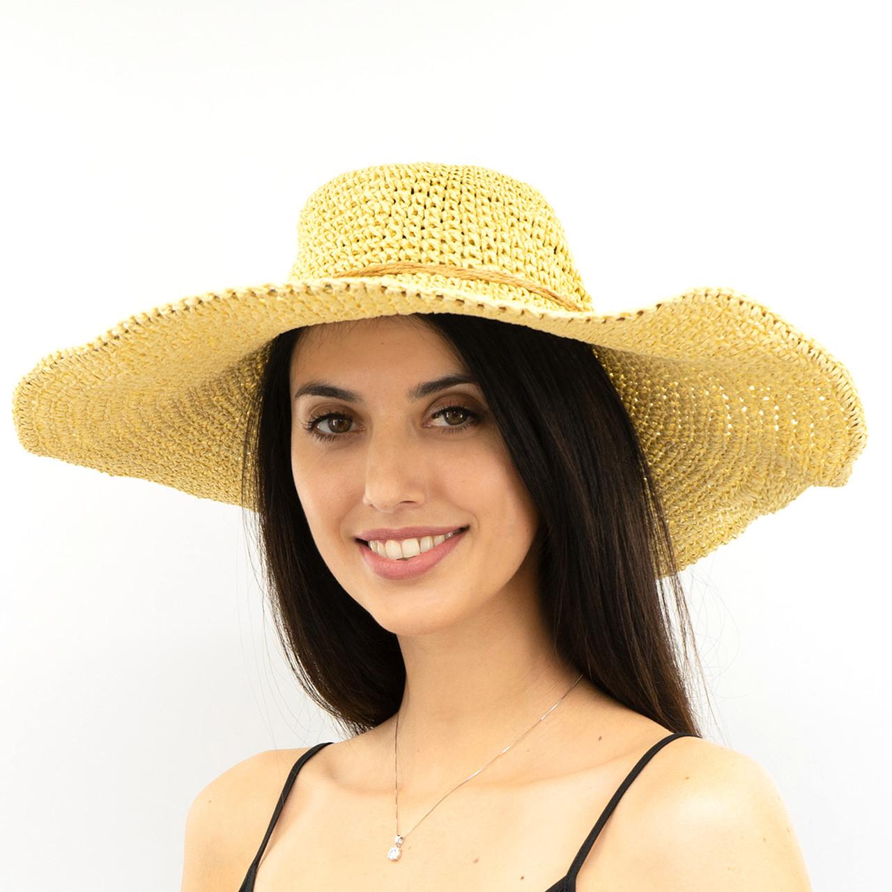 Шляпа женская Marmilen Вязаная Круглая темно бежевая ( ШС-28-02 )